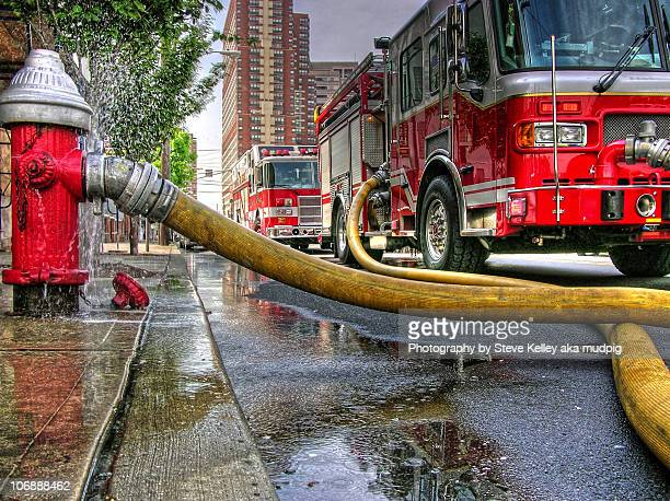 lifelines - firetruck stock photos and pictures