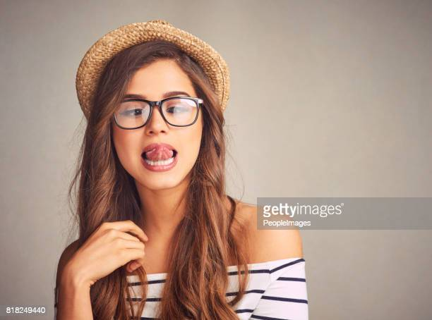 life's a little weird. embrace it - long nose stock photos and pictures