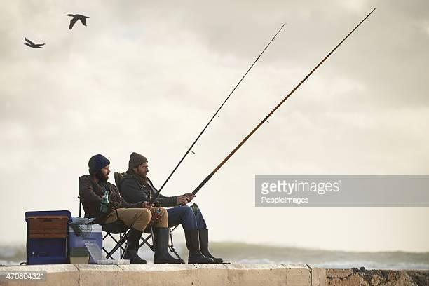 life's short.go angeln. - fischer stock-fotos und bilder