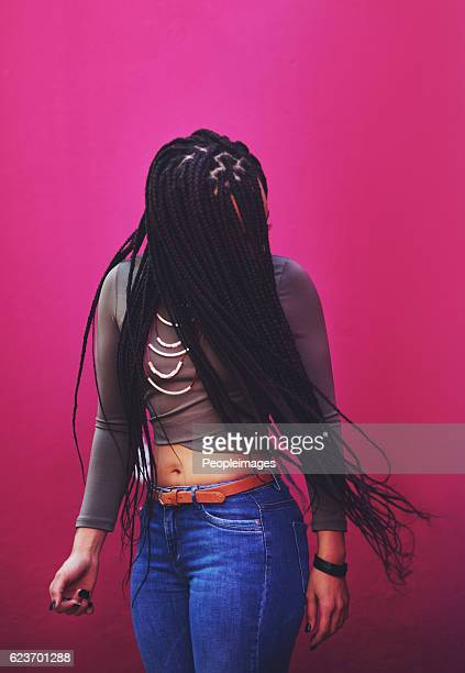 life's too short to have boring hair - braided hair stock pictures, royalty-free photos & images