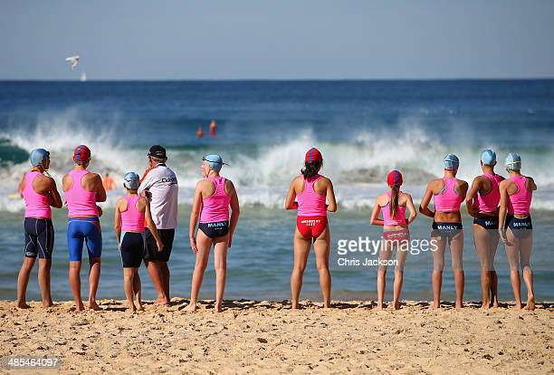 Lifesavers on Manly Beach on April 18 2014 in Sydney Australia The Duke and Duchess of Cambridge are on a threeweek tour of Australia and New Zealand...