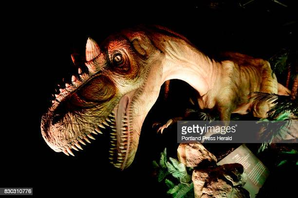 A lifesize animatronic Allosaurus on display at the Dinosaur exhibit at the Portland Science Center Thursday November 17 2016 Dinosaurs Unearthed...