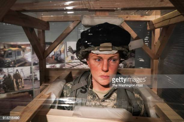 Lifesize figures donning military uniforms will be spread about the new US Army Historical Museum on Tuesday January 30 in Fort Belvoir VA The figues...