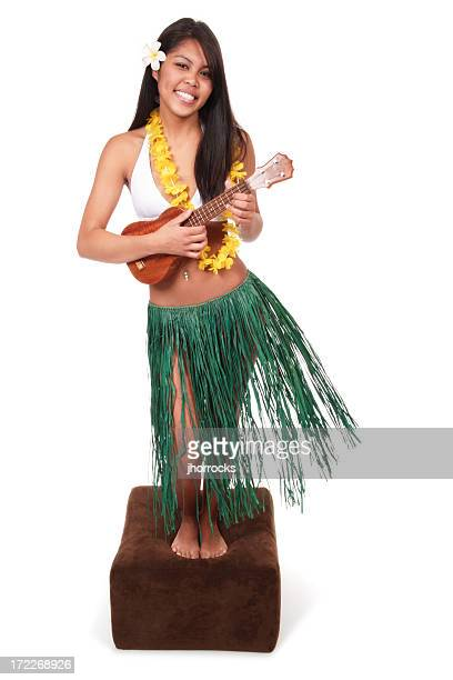 life-size hula doll - hula dancer stock pictures, royalty-free photos & images