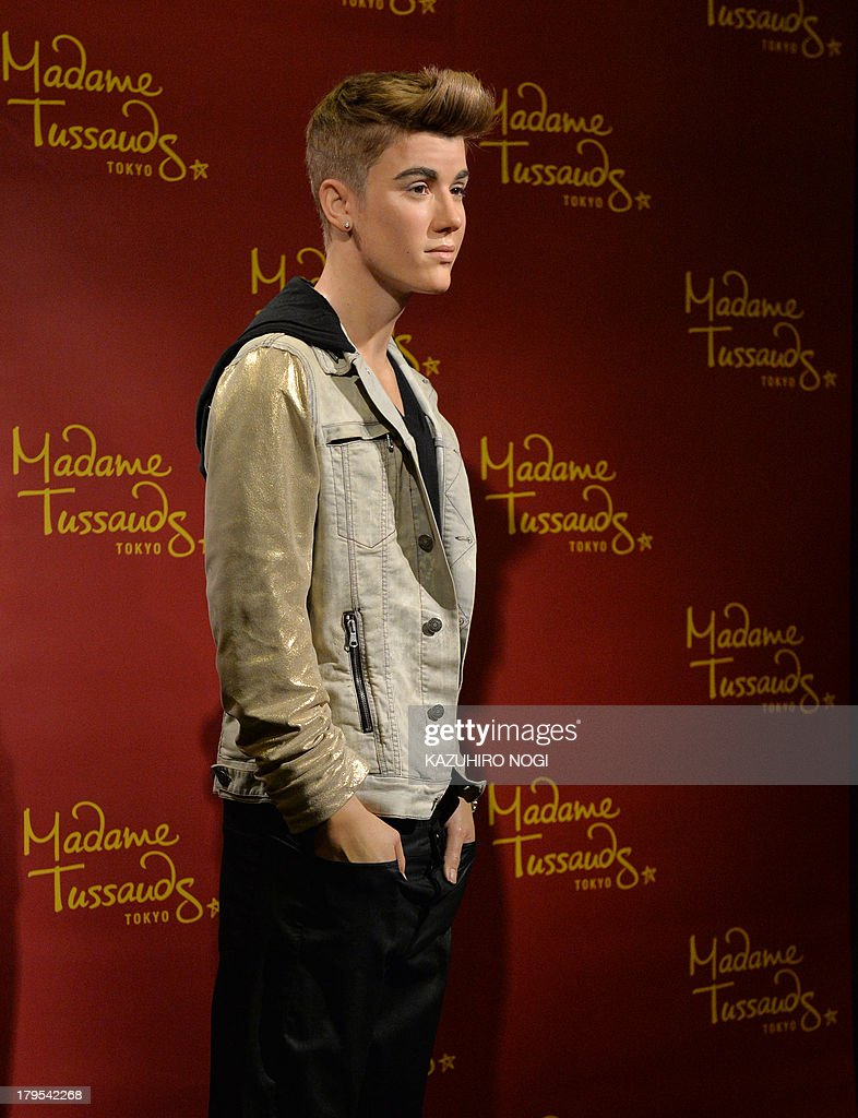 A life-size wax figure of Canadian pop musician Justin Bieber is displayed at Tokyo's Madame Tussaud wax museum on September 5, 2013. The newest figure of Justin Bieber will be displayed during a limited run exhibition here September 7 to October 20, to commemorate Bieber's visit to Japan for the first time in two years.