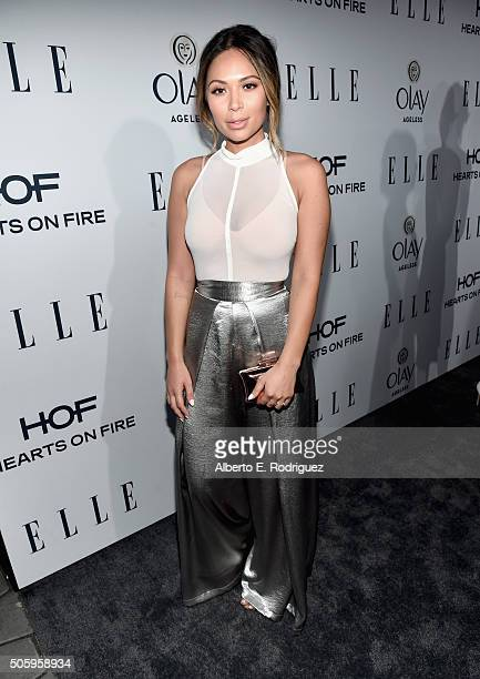 Lifestyle blogger Marianna Hewitt attends ELLE's 6th Annual Women in Television Dinner Presented by Hearts on Fire Diamonds and Olay at Sunset Tower...