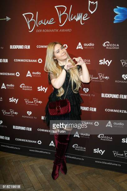 Lifestyle blogger Nadine Trompka attends the Blaue Blume Awards 2018 at Grosz on February 14 2018 in Berlin Germany