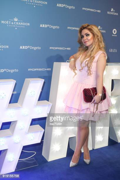 Lifestyle Blogger Nadine Trompka attends the Blue Hour Reception hosted by ARD during the 68th Berlinale International Film Festival Berlin on...