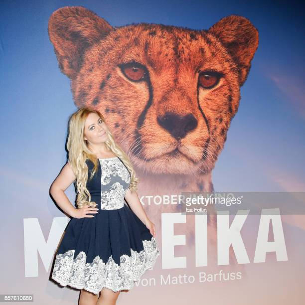 Lifestyle Blogger Nadine Trompka attends the 'Maleika' Film Premiere at Zoo Palast on October 4 2017 in Berlin Germany