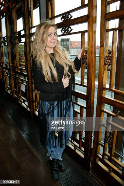 Lifestyle Blogger Nadine Trompka attends the Thomas Sabo Press Cocktail during the MercedesBenz Fashion Week Berlin A/W 2018 at China Club on January...