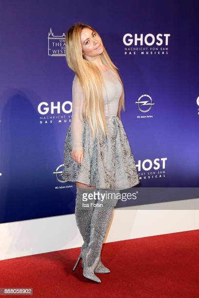 Lifestyle Blogger Nadine Trompka during the premiere of 'Ghost Das Musical' at Stage Theater on December 7 2017 in Berlin Germany