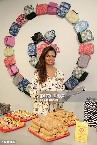Lifestyle Expert Camila Alves packs the perfect lunch at a Target backtoschool event on August 13 2015 in New York City