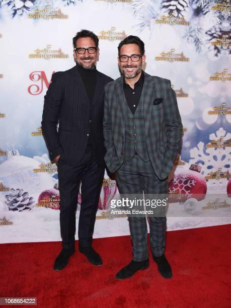 Lifestyle expert Lawrence Zarian and actor Gregory Zarian arrive at the Hallmark Channel 'Once Upon A Christmas Miracle' screening and holiday party...