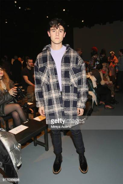 Lifestyle influencer Connor Franta attends the Gypsy Sport fashion show at Pier 59 on February 11 2018 in New York City