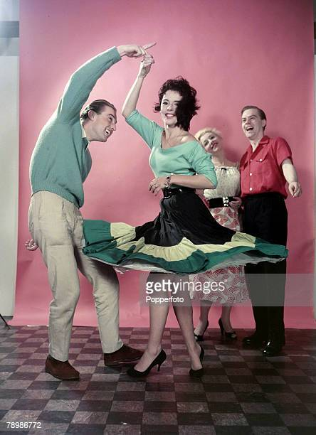 1957 A couple demonstrating rock n' roll style dancing