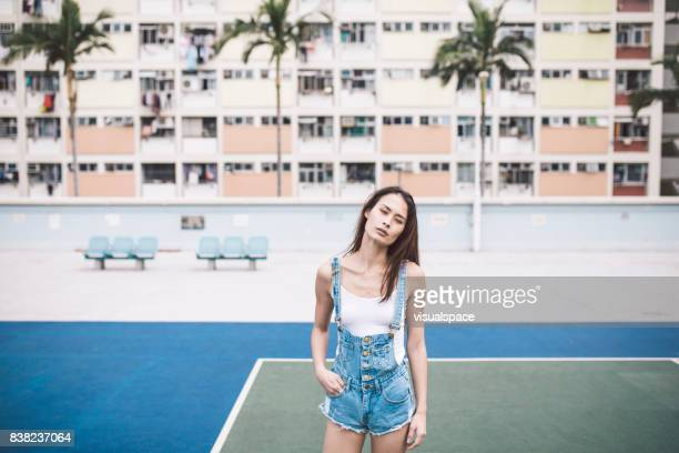 Lifestyle Portrait of Young Eurasian Woman