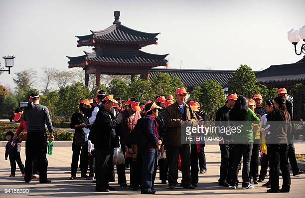 LifestyleChinareligionBuddhismtourism by Marianne Barriaux This photo taken on November 8 2009 shows tourists gathering at the entrance of China's...