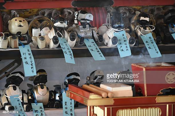 LifestyleelectronicsJapanrobotSony by Miwa Suzuki 19Sony's pet robot AIBOs are line up at an alter during the robots' funeral at the Kofukuji temple...