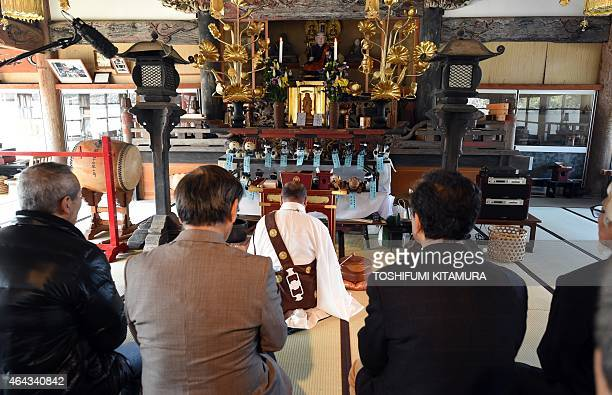 LifestyleelectronicsJapanrobotSony by Miwa Suzuki Kofukuji temple chief priest offers a prayer during the funeral for 19 Sony's pet robot AIBOs at...