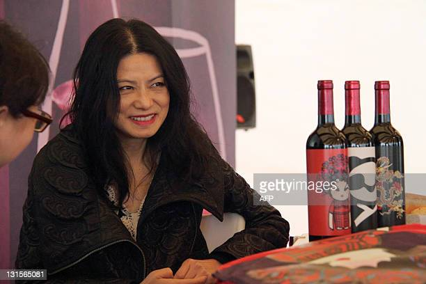 STORY 'LifestyleHongKongChinaUSfashionpeopleTamINTERVIEW' by Joyce Woo Hong Kong designer Vivienne Tam attends a press event prior to the opening of...