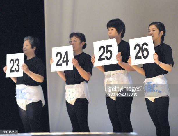 LifestyleJapanseniorfashionhealth by Miwa Suzuki Japanese models display the latest style of adult diapers during its fashion show in Tokyo on...