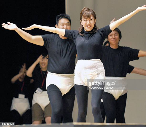 LifestyleJapanseniorfashionhealth by Miwa Suzuki Japanese models wear the latest style of adult diapers during its fashion show in Tokyo on september...
