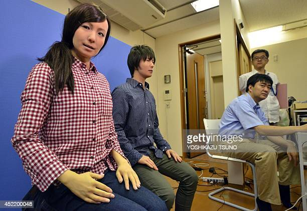 LifestyletechnologyroboticsJapanethicsFEATURE by Alastair Himmer This picture taken on July 8 2014 shows Japan's National Institute of Advanced...