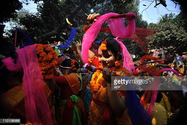 LifestyletourismBangladeshbudget FEATURE by Cat BartonIn a picture taken on February 13 2010 a Bangladeshi woman participates in a procession during...