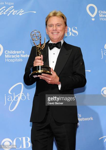 Lifetime Achievement Award honoree Pat Sajak poses in the press room at the 38th Annual Daytime Entertainment Emmy Awards held at the Las Vegas...