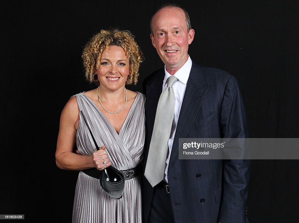 Lifetime Achievement Award recipient Dr Sarah Sandley with Bauer Media CEO Paul Dykzeul during the 2013 MPA Awards at Rangatira Theatre on September 26, 2013 in Auckland, New Zealand.