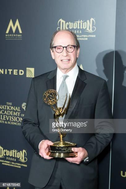 Lifetime Achievement Award Recipient Harry Friedman displays his award at the 44th Annual Daytime Creative Arts Emmy Awards at Pasadena Civic...