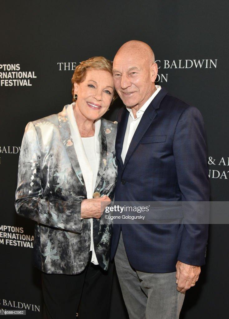 Lifetime Achievement Award recipient Julie Andrews and Patrick Stewart attend Lifetime Achievement Award Reception at Suna Residence during Hamptons International Film Festival 2017 - Day Three on October 7, 2017 in East Hampton, New York.