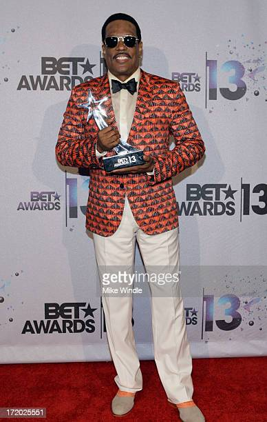 Lifetime Achievement Award recipient musician Charlie Wilson poses in the Backstage Winner's Room at Nokia Theatre LA Live on June 30 2013 in Los...