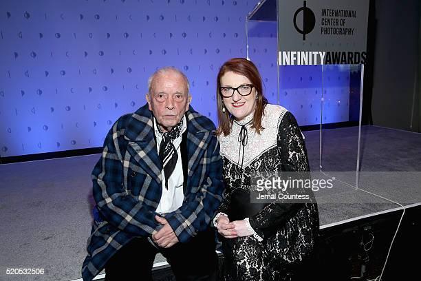 Lifetime Achievement Award recipient, photographer David Bailey and Glenda Bailey attend the International Center Of Photography's 2016 Infinity...