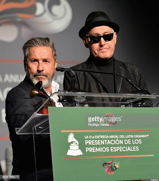 Lifetime Achievement Award recipient Ricardo Montaner speaks onstage during the 2016 Latin Recording Academy Special Awards during the 17th annual...