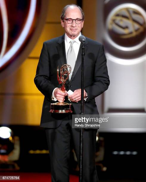Lifetime achievement award winner Harry Friedman attends the 44th annual daytime creative arts Emmy awards show at Pasadena Civic Auditorium on April...