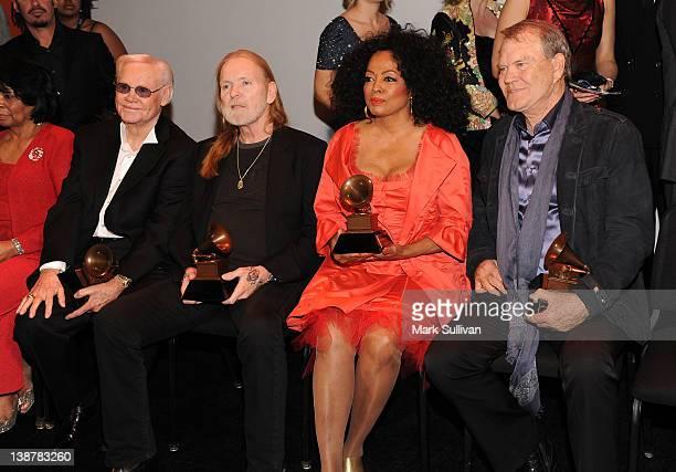 Lifetime Achievement Award winners George Jones Gregg Allman Diana Ross and Glen Campbell follwing The 54th Annual GRAMMY Awards Special Merit Awards...