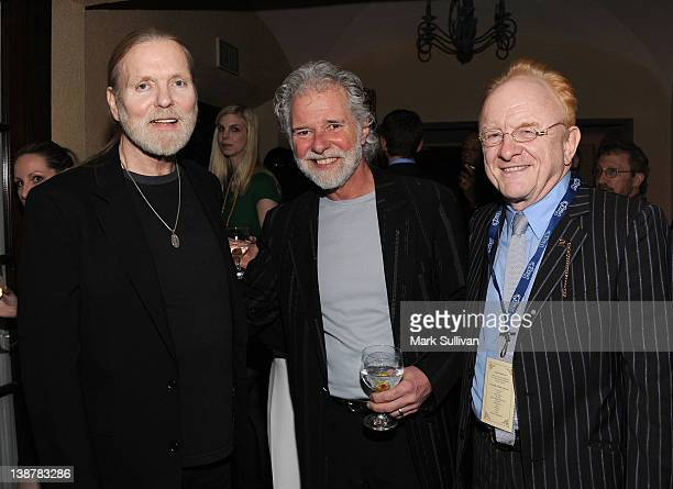 Lifetime Achievement Award winners Gregg Allman and Chuck Leavell with Peter Asher at the reception following The 54th Annual GRAMMY Awards Special...
