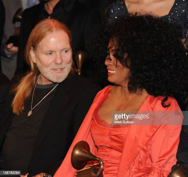 Lifetime Achievement Award winners Gregg Allman and Diana Ross following The 54th Annual GRAMMY Awards Special Merit Awards Ceremony at The Wilshire...