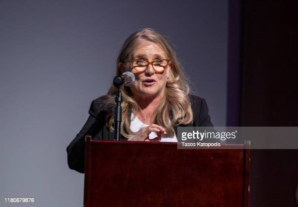 Lifetime Achievement Honoree Nancy Cartwright speaks at the Catalyst Lifetime Achievement Awards program on October 12 2019 in Duluth Minnesota
