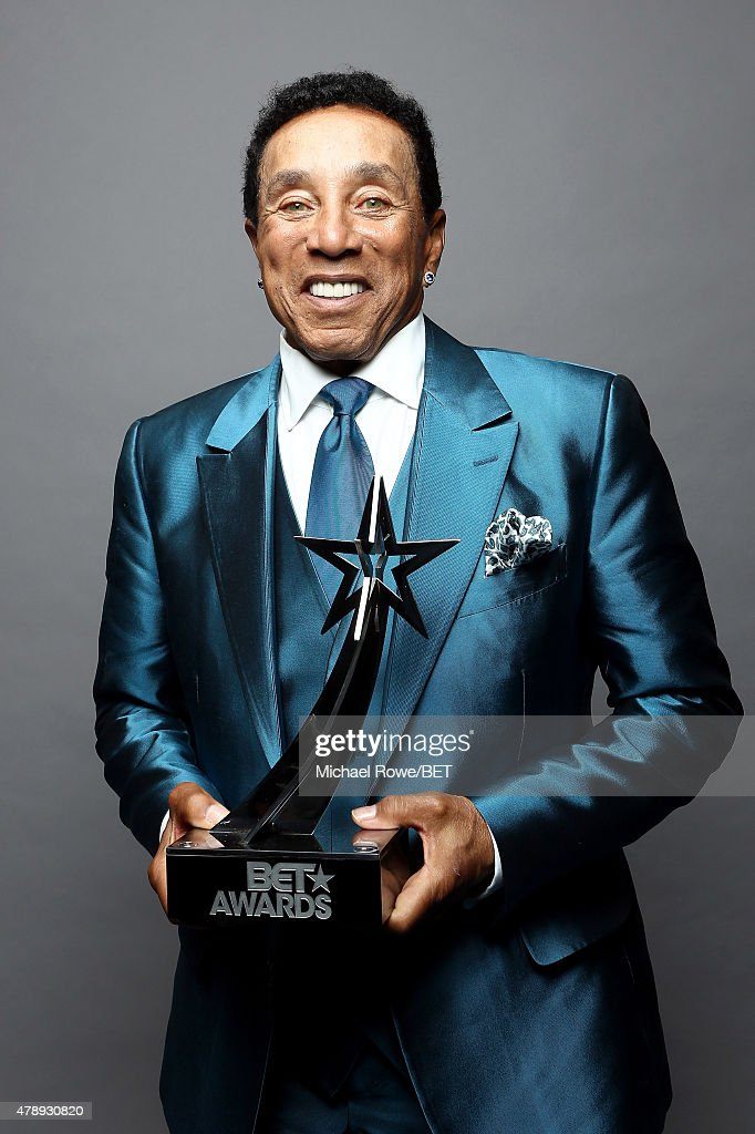 Lifetime Achievement honoree Smokey Robinson poses for a portrait during the 2015 BET Awards at the Microsoft Theater on June 28, 2015 in Los Angeles, California.