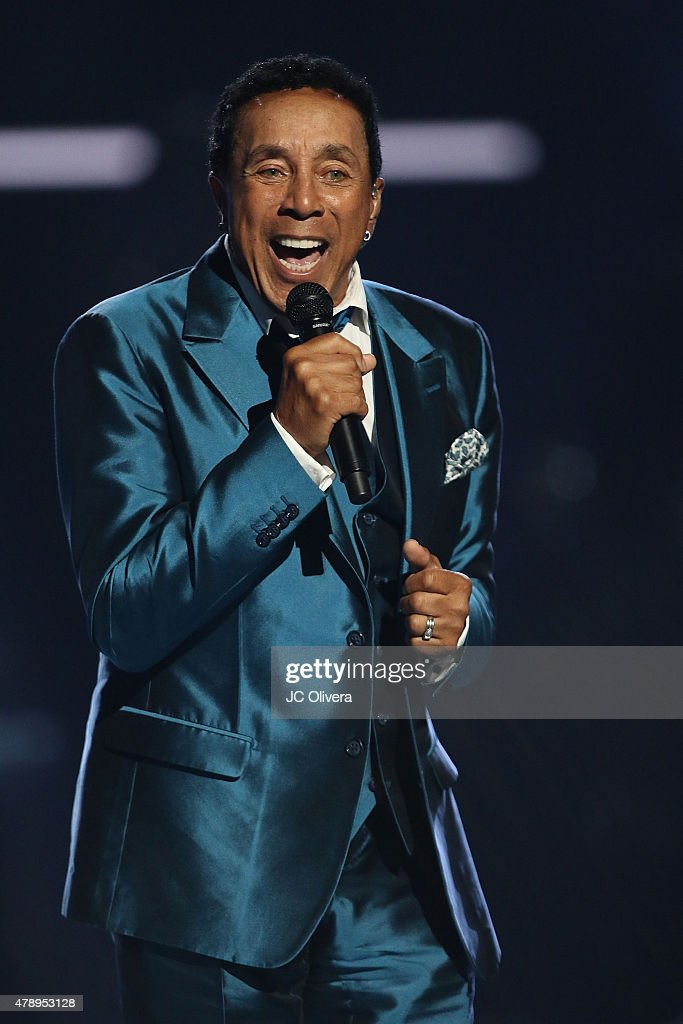 Lifetime Achievement honoree Smokey Robinson speaks on stage during the 2015 BET Awards on June 28, 2015 in Los Angeles, California.