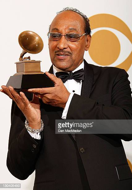 Lifetime Achievement Recipient Duke Fakir poses in the press room at the 51st Annual GRAMMY Awards held at the Staples Center on February 8, 2009 in...