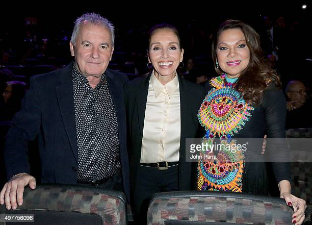 Lifetime Achievement recipients Victor Manuel Ana Belen and Angela Carrasco attend the 2015 Latin Recording Academy Special Awards during the 16th...