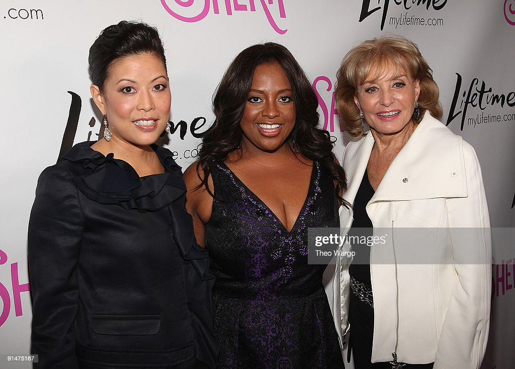 Lifetime CEO and President Andrea Wong, Sherri Shepherd and Barbara Walters attend the Launch Party for new sitcom 'Sherri' at the Empire Hotel on October 5, 2009 in New York City.