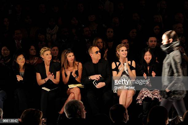 Lifetime CEO Andrea Wong singer Faith Hill Fashion Director of Elle and Marie Claire Nina Garcia designer Michael Kors model Heidi Klum and Project...