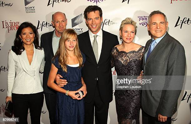 Lifetime Networks President and CEO Andrea Wong producer Neil Meron Georgia Connick singer/actor Harry Connick Jr actress Rene Zellweger and producer...