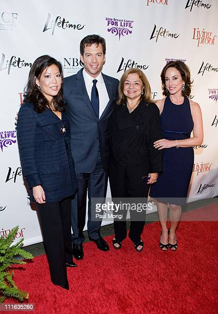 Lifetime Networks President CEO Andrea Wong actor Harry Connick Jr National Breast Cancer Coalition President Fran Visco and breast cancer activist...
