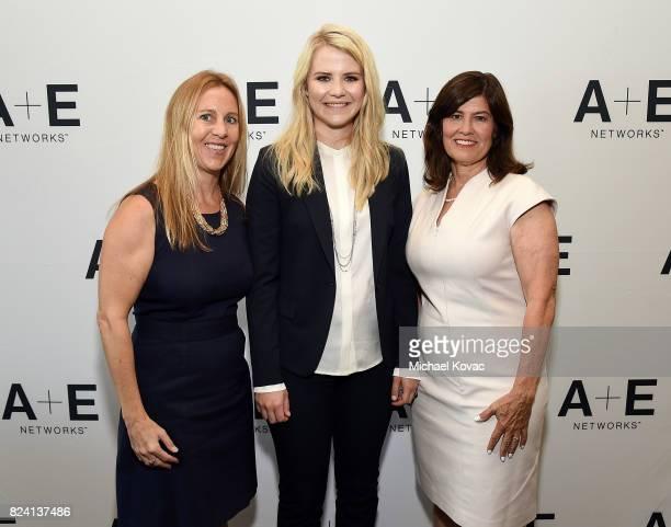 Lifetime Original Movies VP Tia Maggini, narrator/producer Elizabeth Smart, and Lifetime Original Movies SVP Tanya Lopez of 'I Am Elizabeth Smart' at...