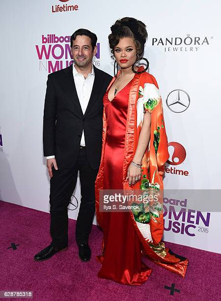 E Lifetime Rob Sharenow and Andra Day attend Billboard Women In Music 2016 Airing December 12th On Lifetime at Pier 36 on December 9 2016 in New York...
